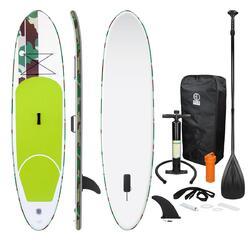 Prancha de surf inflável Stand Up Paddle Verde 308x76x10cm