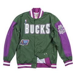 Veste d'échauffement M&N Nba Milwaukee Bucks