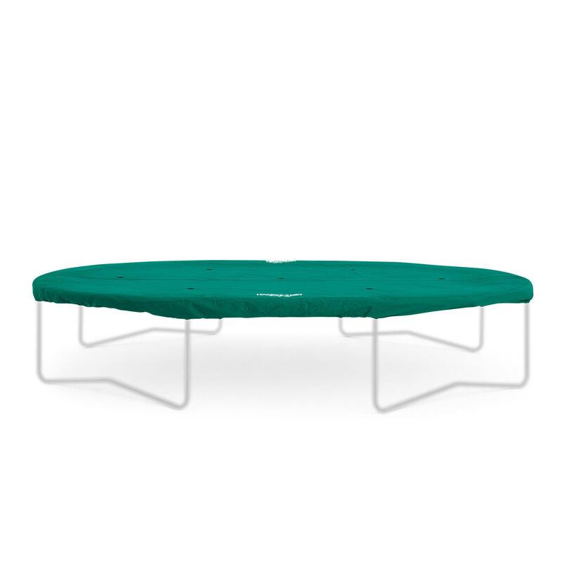 Grand Housse de protection Extra 350 cm vert pour trampoline ovale
