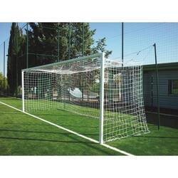 Twee te verankeren aluminium doelen voor voetbal met 8