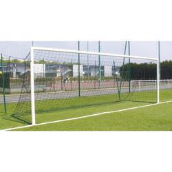 Twee te verankeren stalen doelen voor voetbal met 11