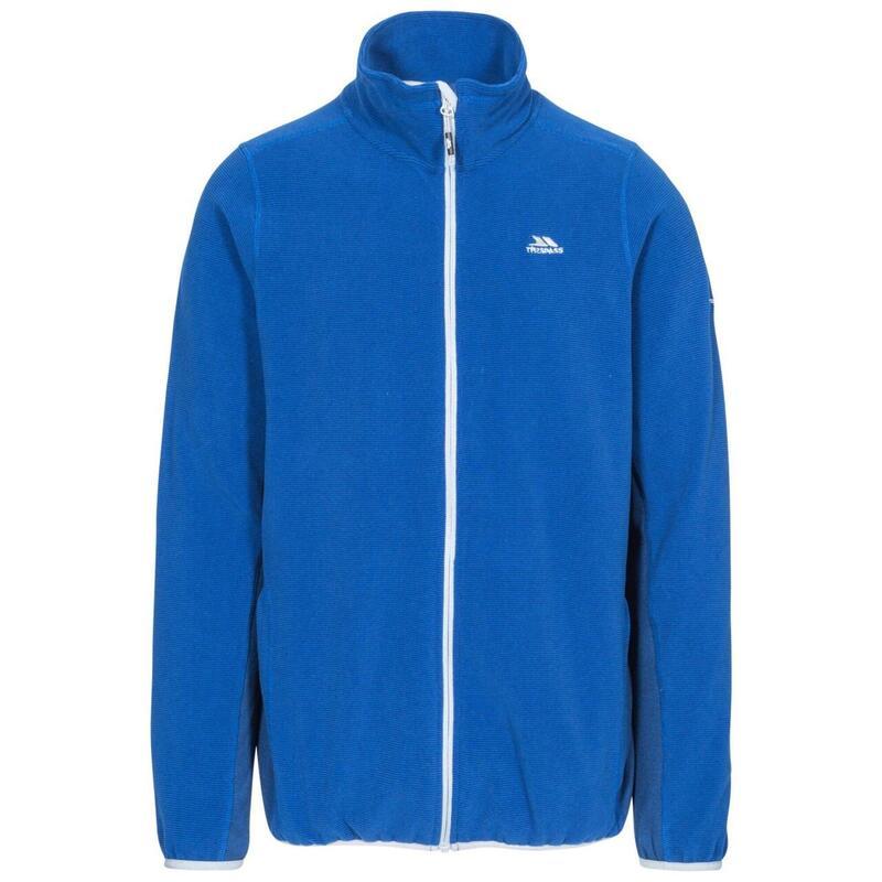 Polaire zippée MIRTH Homme (Bleu roi côtelé)