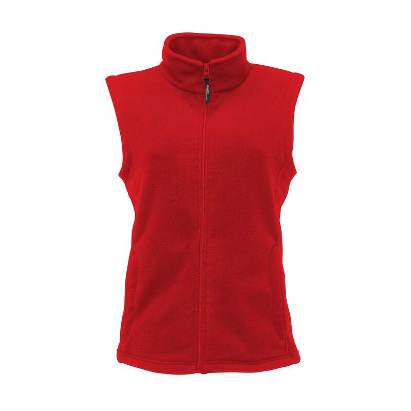 Dames Micro Fleece Bodywarmer / Gilet (Rood)