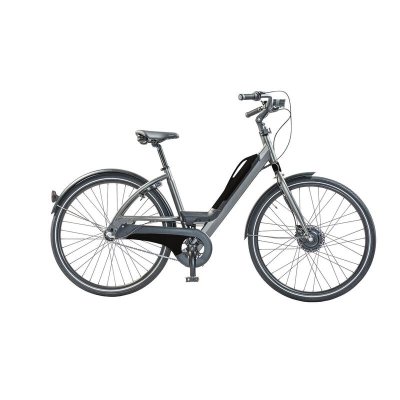 E-bike sportif, batterie amovible avec connexion USB, 3 speed, 9ah, noir mat