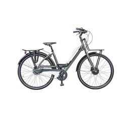 E-bike: porte-bagage avant et arrière batterie avec port USB. 7 speed, 9ah blanc