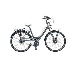 Urban e-bike: voor en achterdrager, accu met usb aansluiting. 5 speed 13ah wit