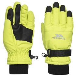 Kinder Ruri II Winter Ski Handschoenen (Neon geel)