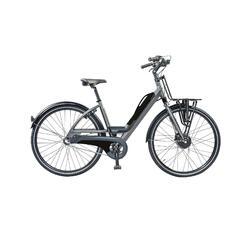 E-bike: porte-bagage avant XL et batterie avec port USB. 3 speed, 9ah, noir mat