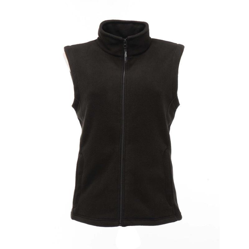 Vrouwen/dames Micro Fleece Bodywarmer / Gilet (Zwart)