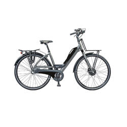 Urban e-bike: voor en achterdrager, accu met usb aansluiting. 3 speed 13ah zwart
