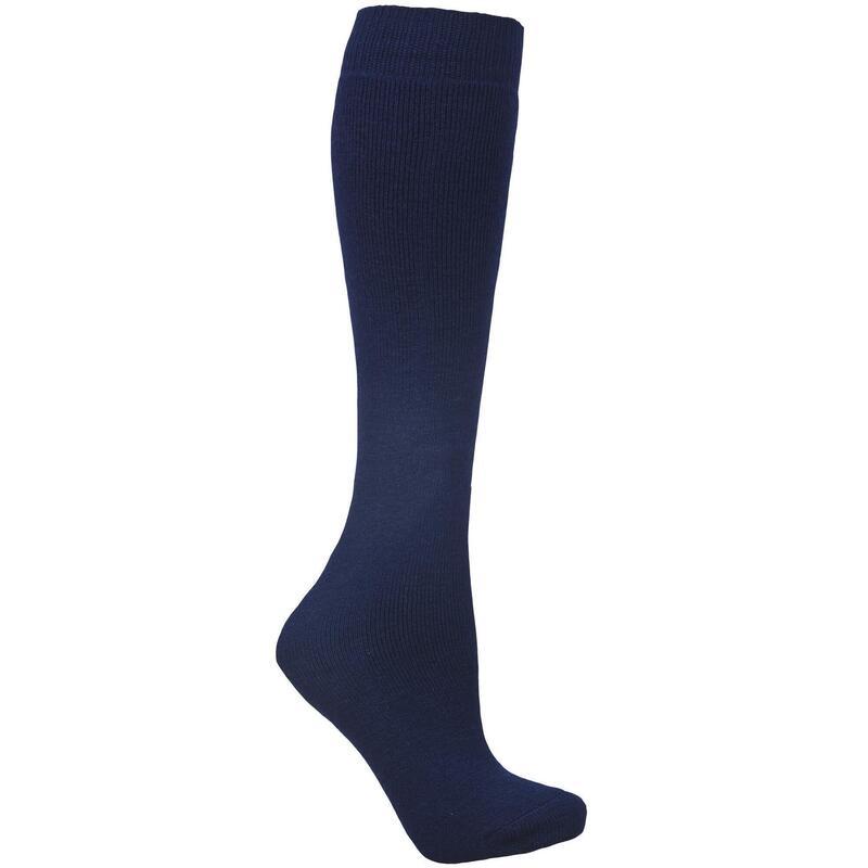 Volwassenen Unisex Buisvormige Luxe Wollenmix Skibuis Sokken (Marineblauw)