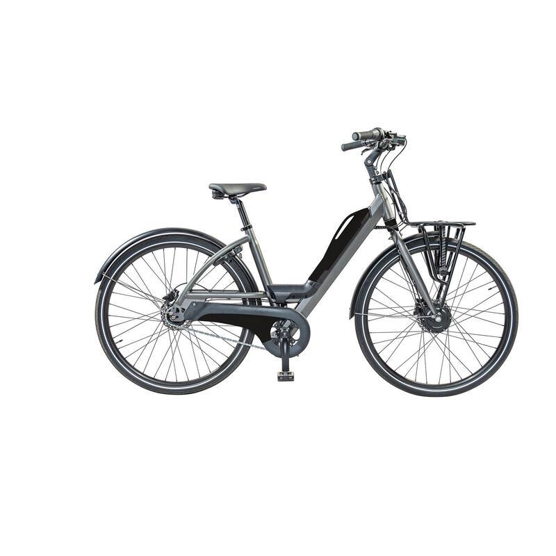 E-bike: porte-bagage avant XL et batterie avec port USB. 5 speed, 9ah, noir mat