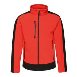 Contrast Mens 300 Fleece Top/Jacket (Klassiek rood/zwart)