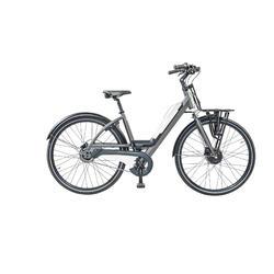 Urban e-bike: voordrager XL, batterij met usb aansluiting. 7 speed, 9ah, wit