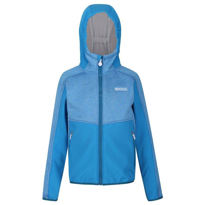 Veste softshell à capuche BRACKNELL Unisexe (Bleu clair)