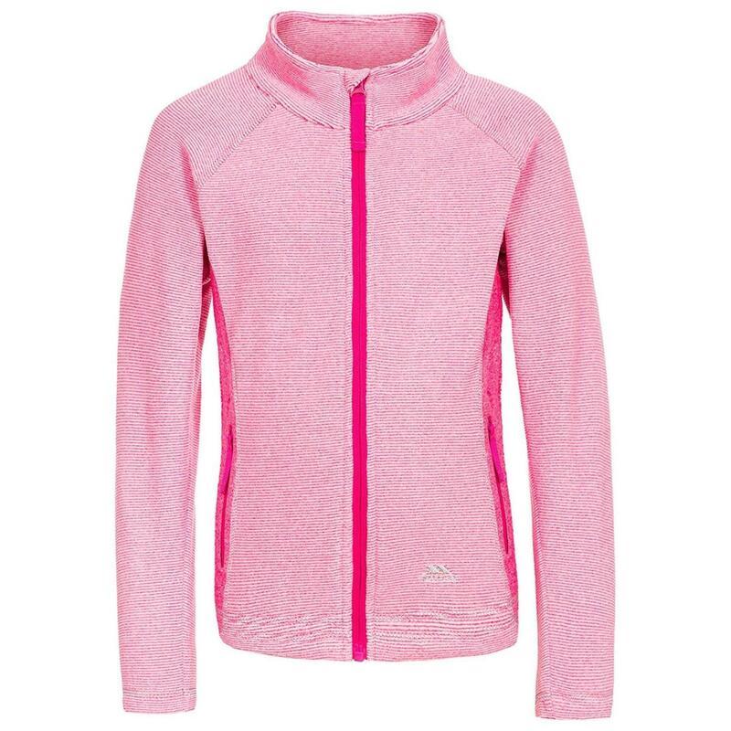 Kinderen/Kinderen Bunker Fleece Jacket (Roze Damesstreep)