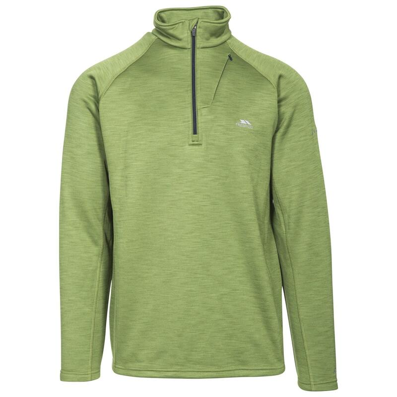 Heren Collins Half Zip Fleece Vest (Lichtgroen)