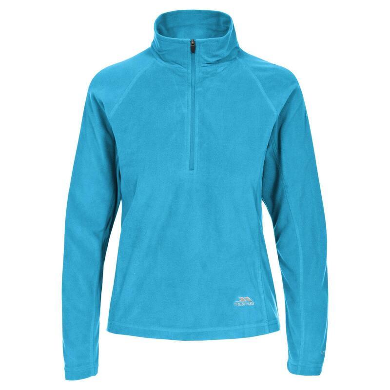 Reflecterende Microfleece Shirt met Halve Rits voor Dames (Blauw)