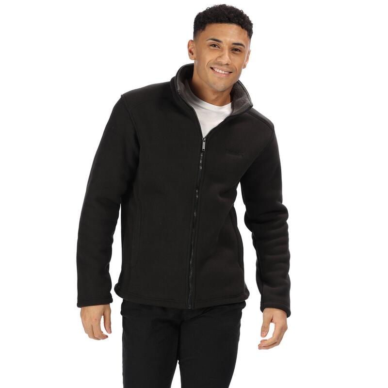 Heren Garrian Full Zip Jacket (Zwart/Briar)