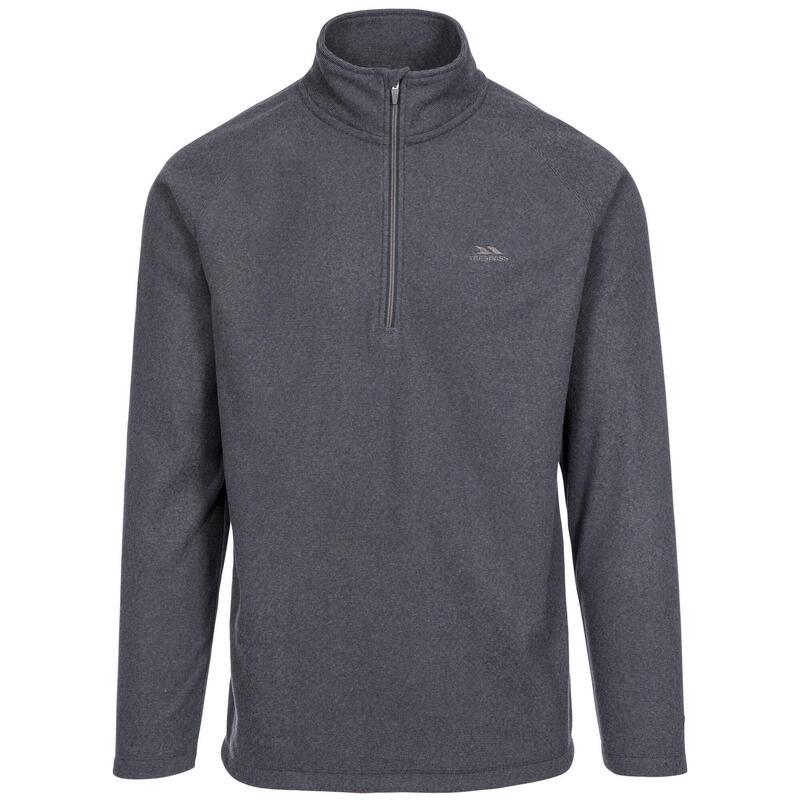 Heren Keynote Anti Pluis 1/4 Rits Fleece Vest (Houtskool)