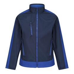Herencontrast 3lagige Softshell Full Zip Jacket (Marine / Nieuw Koningsblauw)