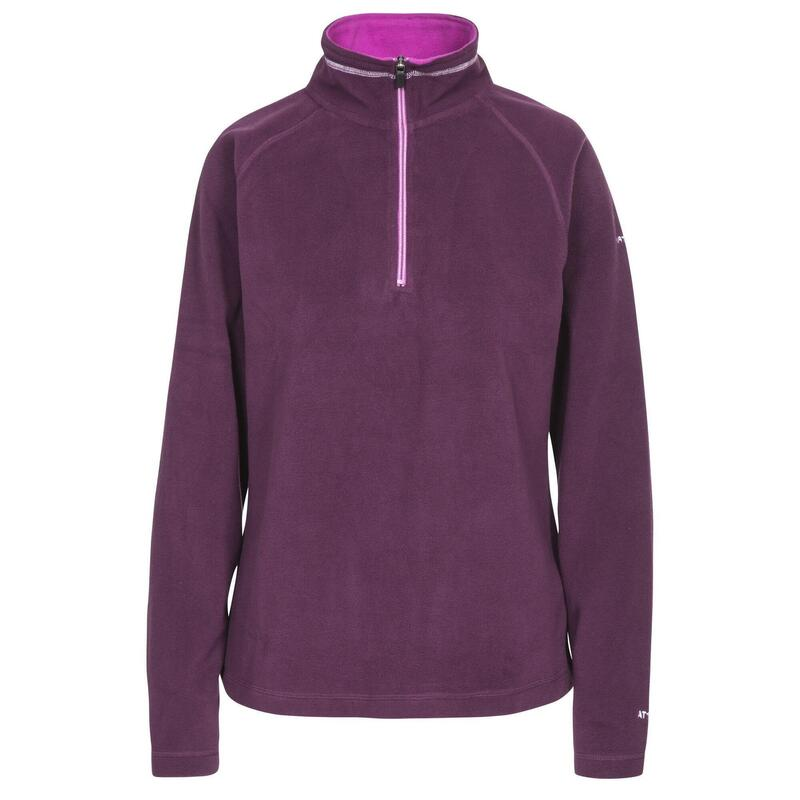 Dames Skylar Fleece Top (Donkerpaars)