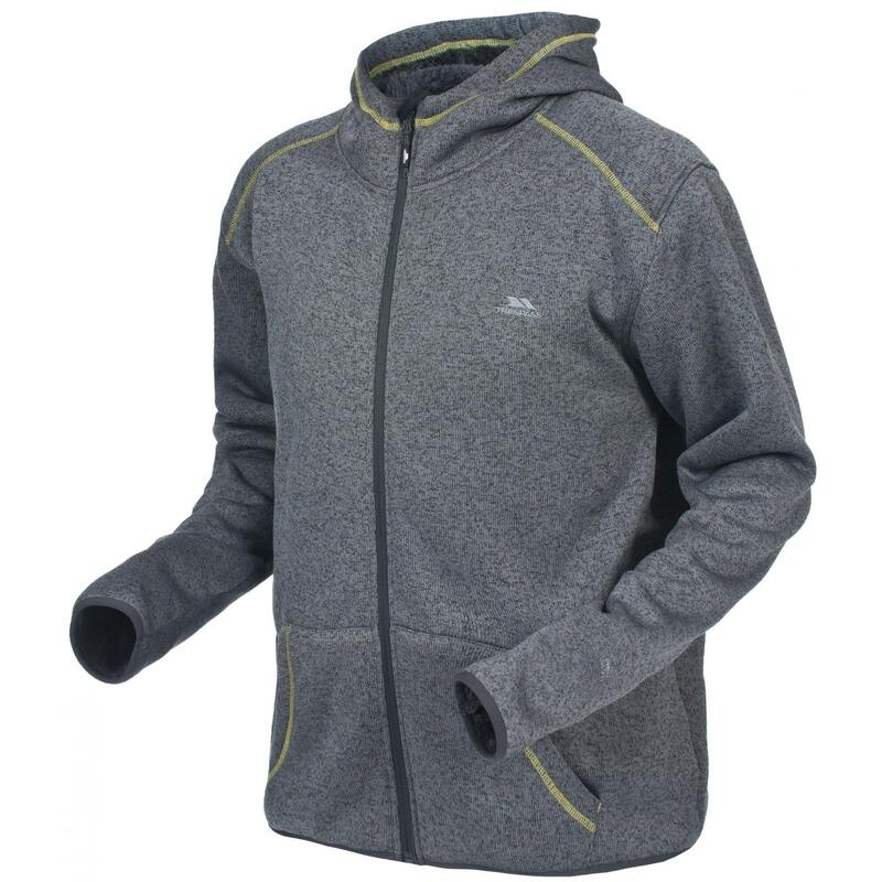 Heren Dilan Full Zip Fleece Vest met Capuchon (Grijs)