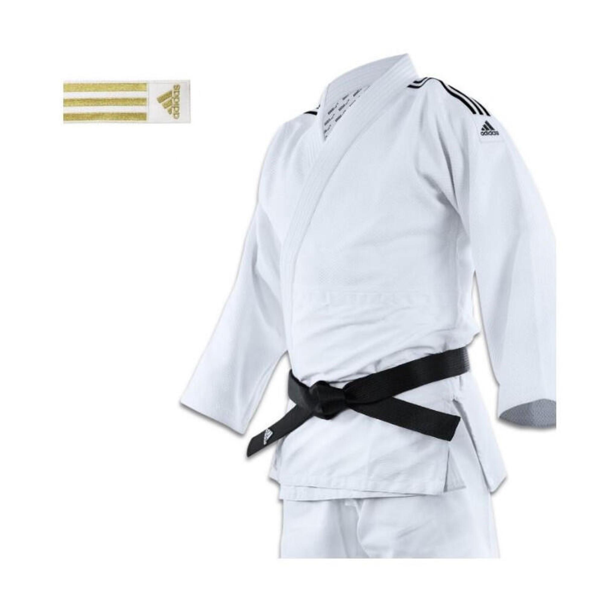 Kimono judo J690 Quest à bandes or