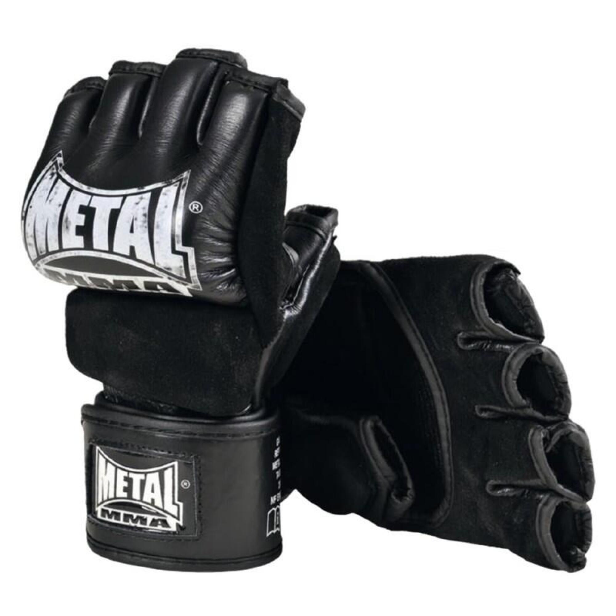 Mitaines / Gants MMA Combat Libre avec pouce METAL BOXE