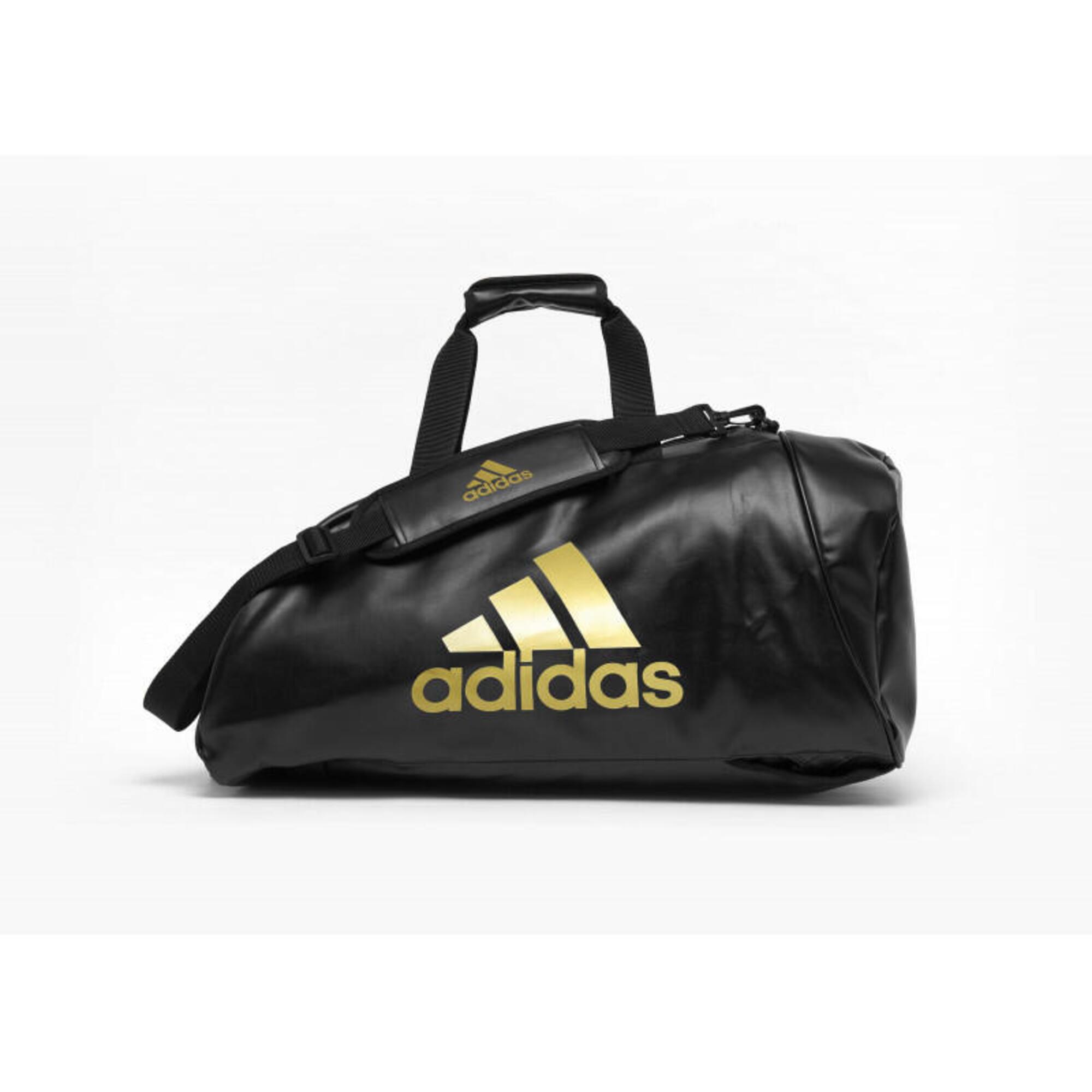 Sac de sport Adidas 2 en 1 logo or