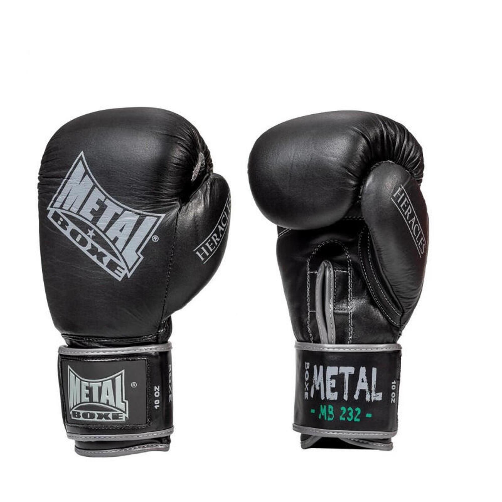 Gants en cuir Heraclès Métal boxe