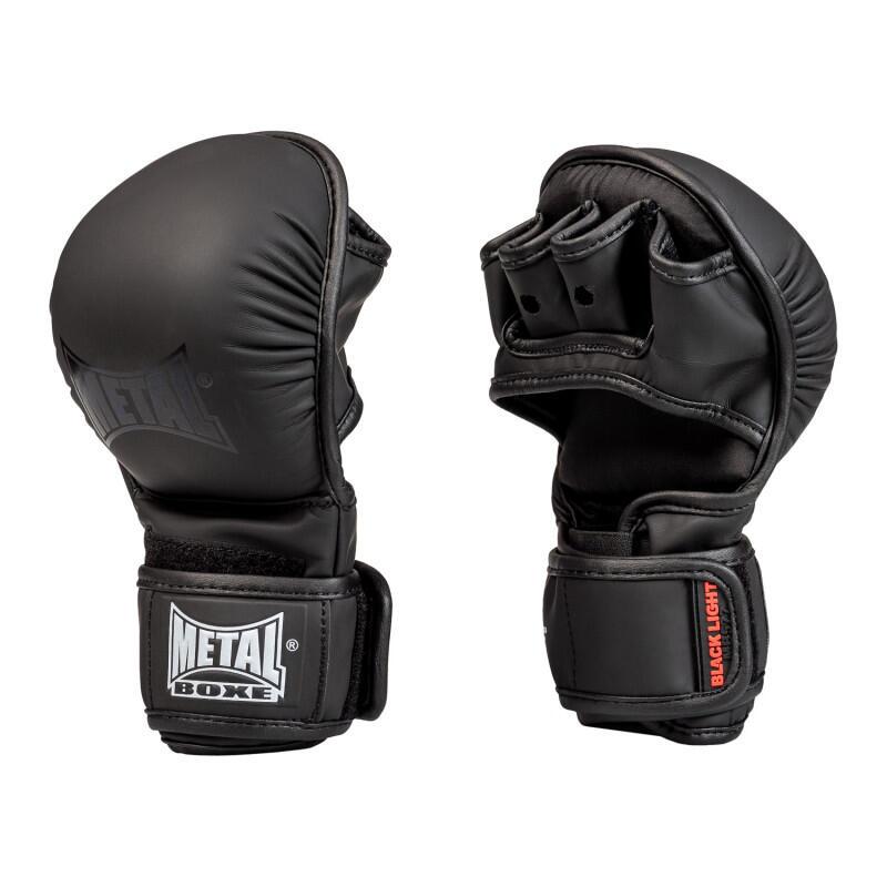 Gants MMA d'entrainement noir métal boxe