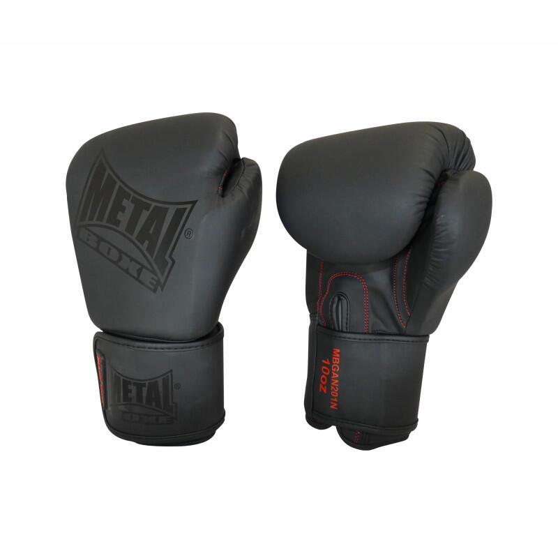 Zwarte trainingsbokshandschoenen voor thaiboksen Metal Boxe