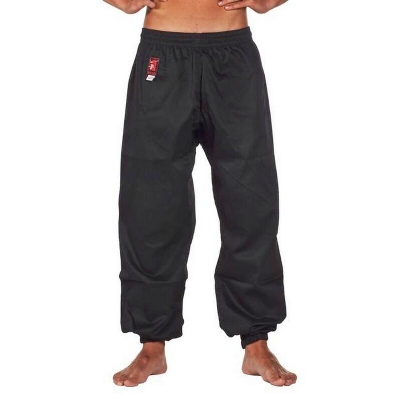Pantalon Kung Fu noir bas serré Matsuru