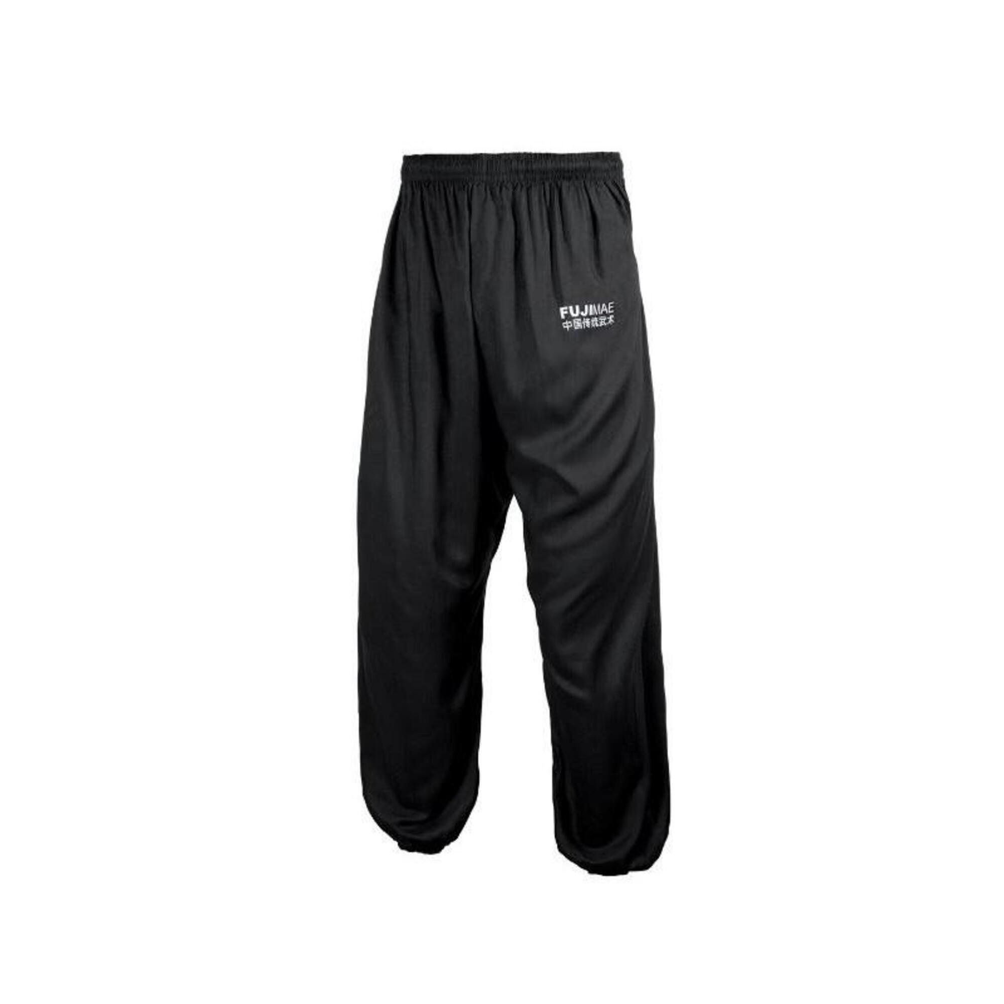 Pantalon de Tai Chi noir bas serré Fuji Mae