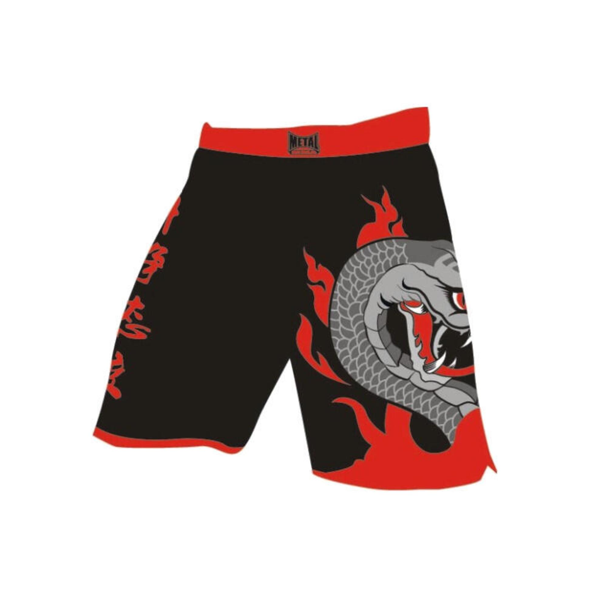 Short de MMA serpent Métal boxe