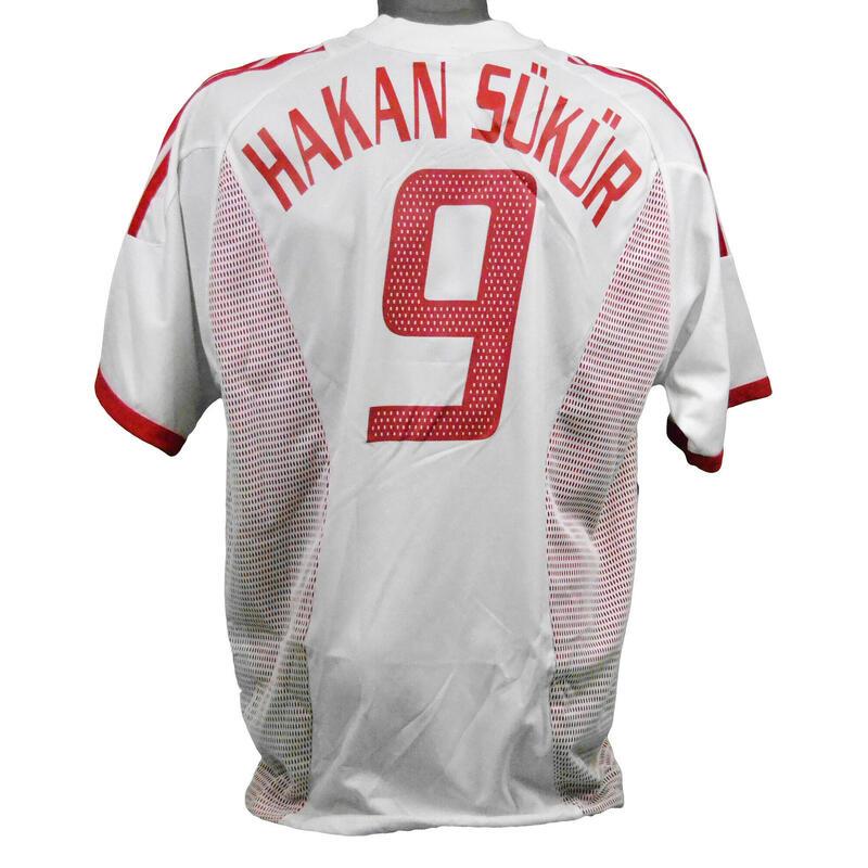 Home jersey Turkije Wereldkampioenschap voetbal 2002 Şükür