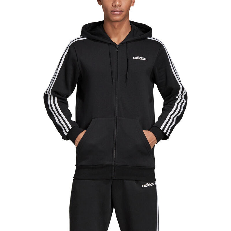 adidas Essentials 3-Stripes Hooded Jacket