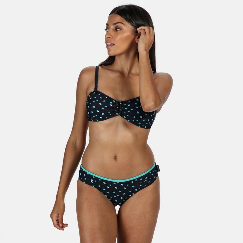 Grote Buitenvrouwen/dames Aceana High Leg Bikini Briefs (Navy/Aqua Blue Print)