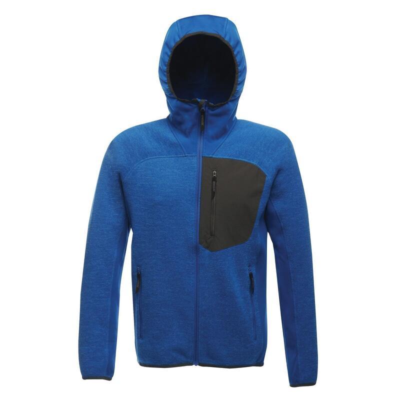 XPro Heren Koudspring Hybride Hooded Fleece Jacket (Oxford Blauw)