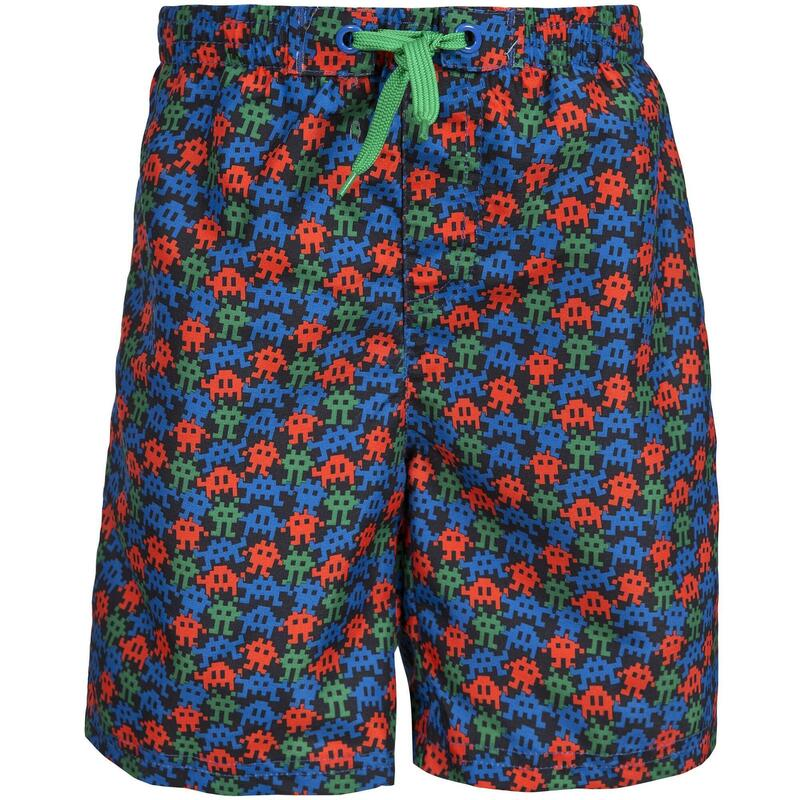Childrens Boys Gamer Swimming Shorts (Elektrische Blauwdruk)