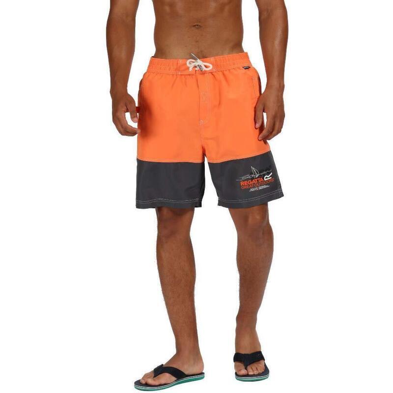 Heren Bratchmar III Sneldrogende Zwemshorts (Blaze Orange/Seal Grey)