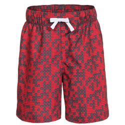 Kinderzwembroekjes voor jongens in de steeg (Rood)