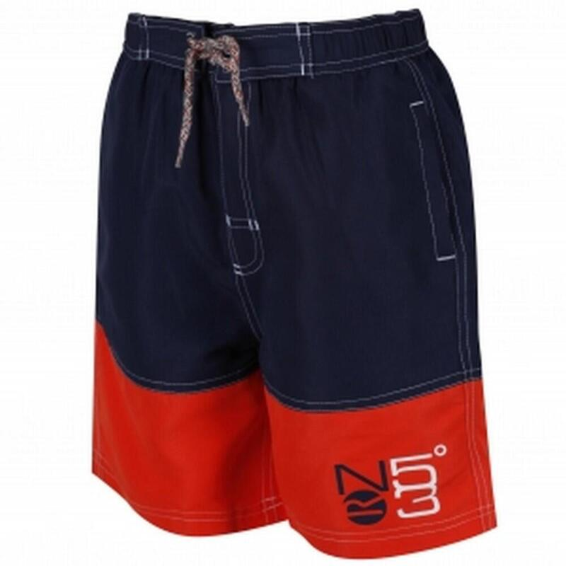Grote buitenshuis Childrens Boys Shaul Zwemmen Shorts (Navy/Amber Glow)