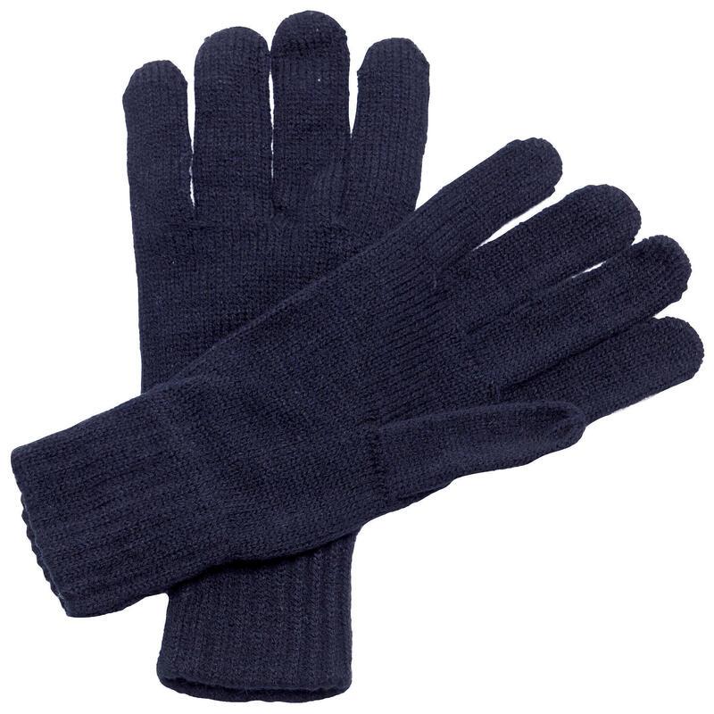 Gants tricotés Adulte unisexe (Bleu marine)