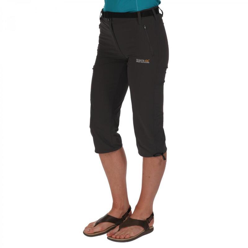 Grote Buiten Vrouwen/dames Xert Stretch II Capri Shorts (Afdichting Grijs)