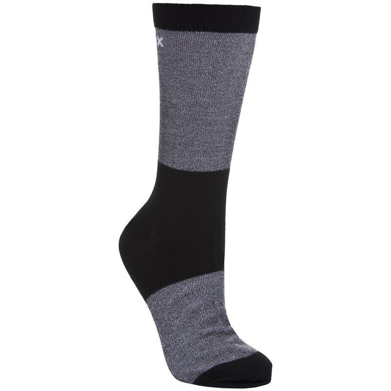 Heren Tippo Tweekleurige, Lichtwicht Coolmax Sokken (1 Paar) (Zwart)