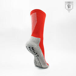 PlayWear Chaussettes Antidérapantes Rouge
