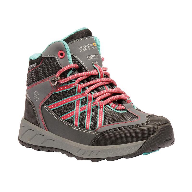 Chaussures montantes de randonnée SAMARIS Unisexe (Gris/rose foncé)