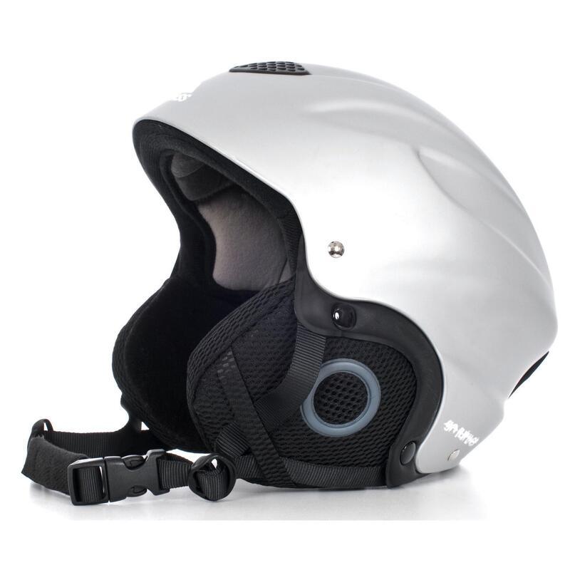 Kinder Unisex Burlin Sneeuwsport Helm (Zilver)